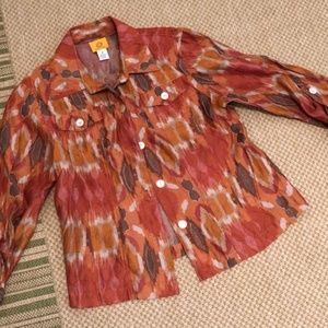 Ruby Rd Shirt Jacket Size 8